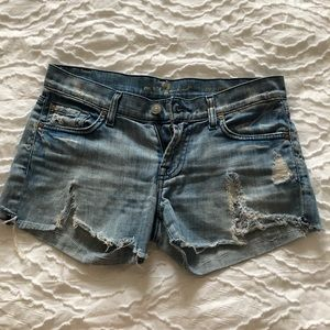 7 for all mankind jeans shorts sz 25
